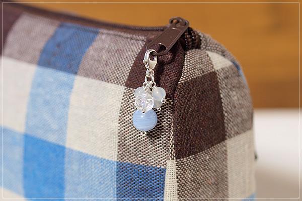 ブルーレース+ロータス水晶+ムーンストーンチャームペンダントトップ