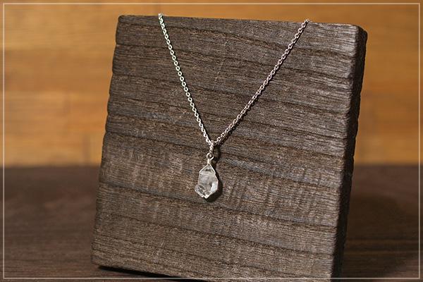 多結晶ハーキマーダイヤモンドsilver925ペンダントトップNo.1