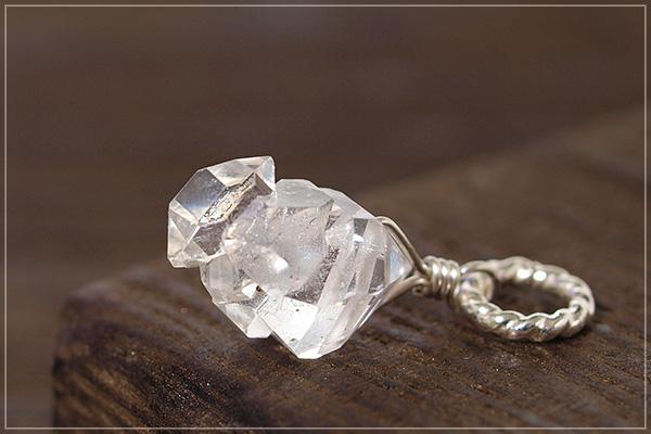 多結晶ハーキマーダイヤモンドsilver925ペンダントトップNo.2