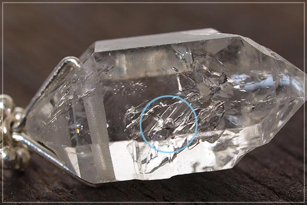 水入りハーキマーダイヤモンドsilver925ペンダントトップ