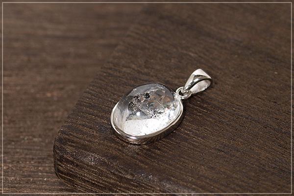 水入り水晶silver925ペンダントトップNo.1