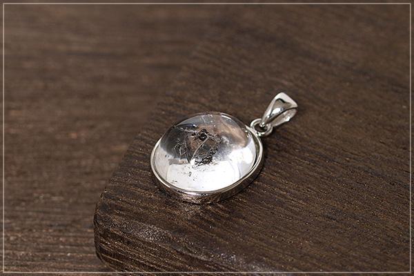 水入り水晶silver925ペンダントトップNo.4