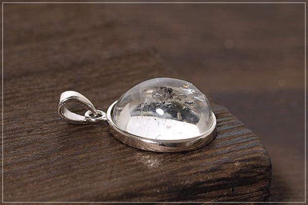 水入り水晶silver925ペンダントトップNo.3