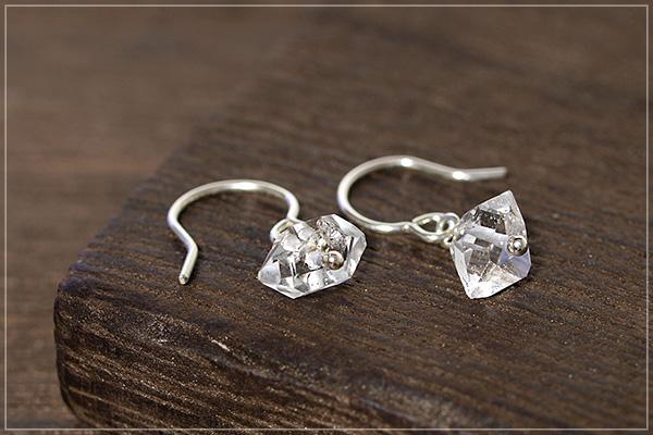 ハーキマーダイヤモンドsilver925ピアス・イヤリング
