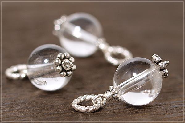 ヒマラヤ産水晶10ミリ玉silver925ペンダントトップ