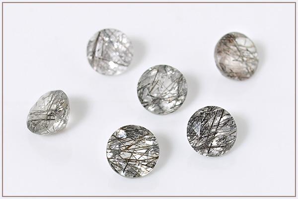 ブラックトルマリン入り水晶silver925ベゼルネックレス