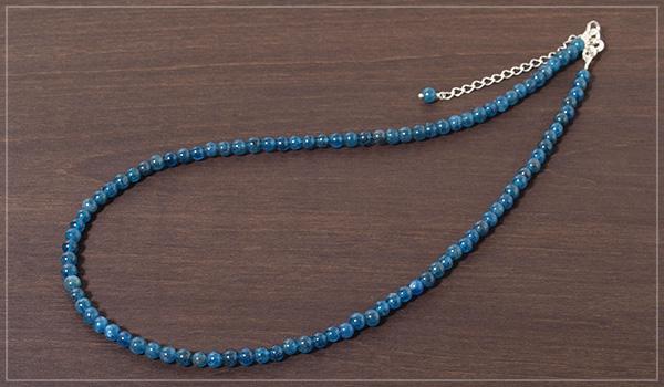 ブルーアパタイトネックレス