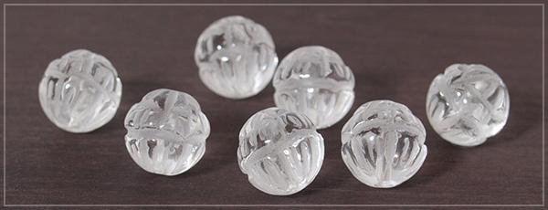 ロータス水晶12ミリ玉ペンダントトップ